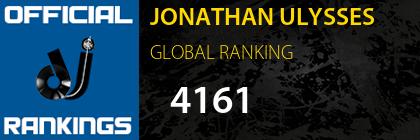 JONATHAN ULYSSES GLOBAL RANKING