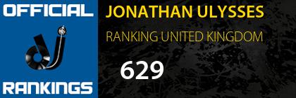 JONATHAN ULYSSES RANKING UNITED KINGDOM