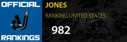 JONES RANKING UNITED STATES