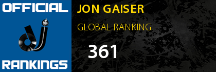 JON GAISER GLOBAL RANKING