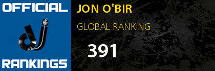JON O'BIR GLOBAL RANKING