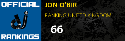 JON O'BIR RANKING UNITED KINGDOM