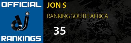 JON S RANKING SOUTH AFRICA