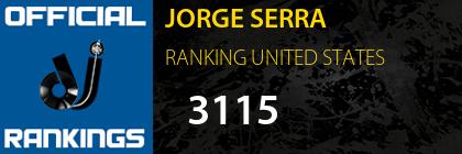 JORGE SERRA RANKING UNITED STATES