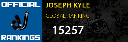 JOSEPH KYLE GLOBAL RANKING