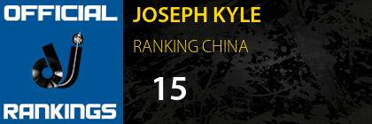 JOSEPH KYLE RANKING CHINA