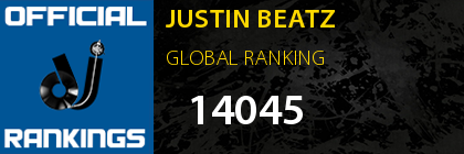 JUSTIN BEATZ GLOBAL RANKING