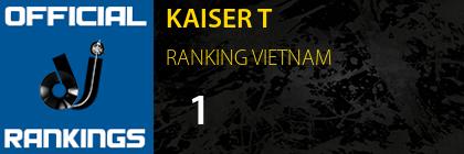 KAISER T RANKING VIETNAM
