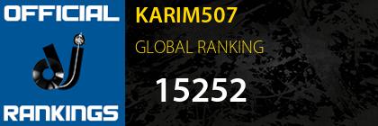 KARIM507 GLOBAL RANKING