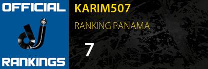 KARIM507 RANKING PANAMA