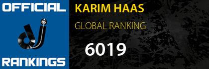 KARIM HAAS GLOBAL RANKING