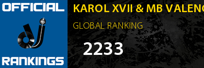 KAROL XVII & MB VALENCE GLOBAL RANKING