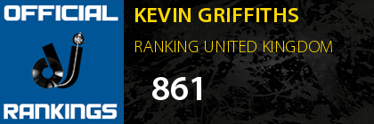 KEVIN GRIFFITHS RANKING UNITED KINGDOM