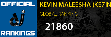 KEVIN MALEESHA (KE7INS) GLOBAL RANKING