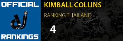 KIMBALL COLLINS RANKING THAILAND