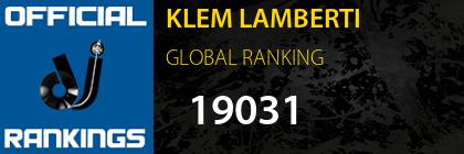 KLEM LAMBERTI GLOBAL RANKING