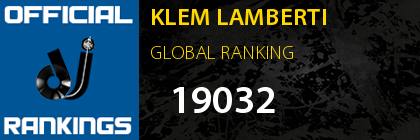 KLEM LAMBERTI RANKING ITALY
