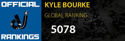 KYLE BOURKE GLOBAL RANKING