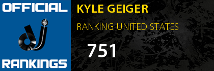 KYLE GEIGER RANKING UNITED STATES