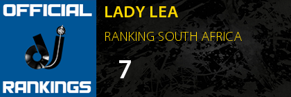 LADY LEA RANKING SOUTH AFRICA