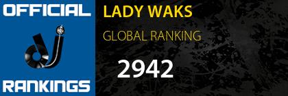 LADY WAKS GLOBAL RANKING