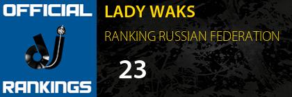 LADY WAKS RANKING RUSSIAN FEDERATION