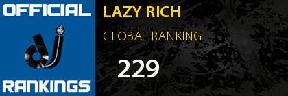 LAZY RICH GLOBAL RANKING
