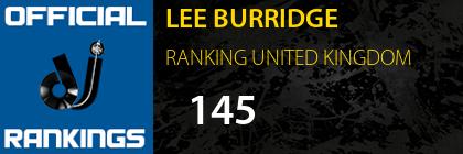 LEE BURRIDGE RANKING UNITED KINGDOM