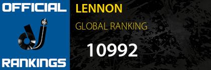 LENNON GLOBAL RANKING