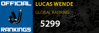 LUCAS WENDE GLOBAL RANKING
