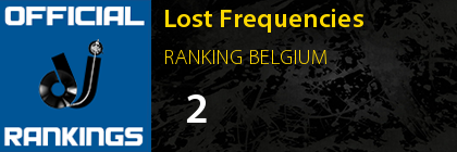 Lost Frequencies RANKING BELGIUM