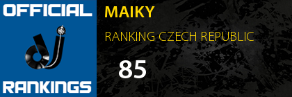 MAIKY RANKING CZECH REPUBLIC
