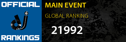 MAIN EVENT GLOBAL RANKING