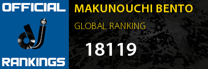 MAKUNOUCHI BENTO GLOBAL RANKING