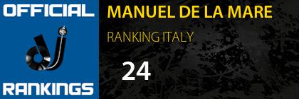 MANUEL DE LA MARE RANKING ITALY
