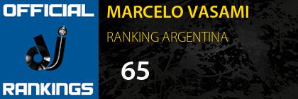 MARCELO VASAMI RANKING ARGENTINA