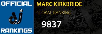 MARC KIRKBRIDE GLOBAL RANKING