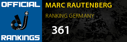 MARC RAUTENBERG RANKING GERMANY