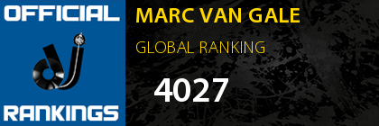 MARC VAN GALE GLOBAL RANKING