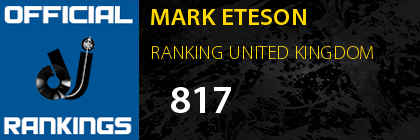 MARK ETESON RANKING UNITED KINGDOM