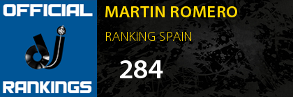 MARTIN ROMERO RANKING SPAIN