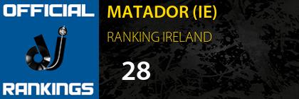 MATADOR (IE) RANKING IRELAND