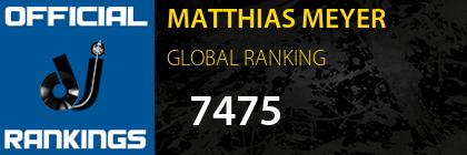 MATTHIAS MEYER GLOBAL RANKING