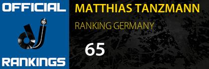 MATTHIAS TANZMANN RANKING GERMANY