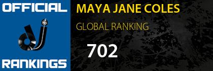 MAYA JANE COLES GLOBAL RANKING