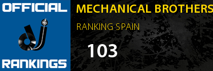 MECHANICAL BROTHERS RANKING SPAIN