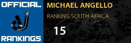 MICHAEL ANGELLO RANKING SOUTH AFRICA