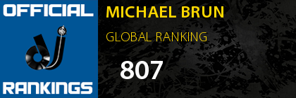 MICHAEL BRUN GLOBAL RANKING