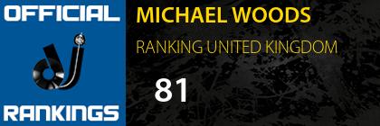 MICHAEL WOODS RANKING UNITED KINGDOM