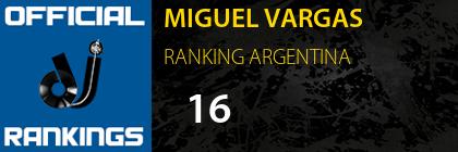 MIGUEL VARGAS RANKING ARGENTINA